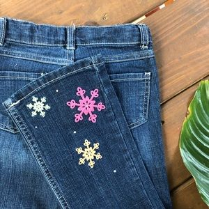 ❄️Adorable Gymboree Jeans with snowflakes size 7